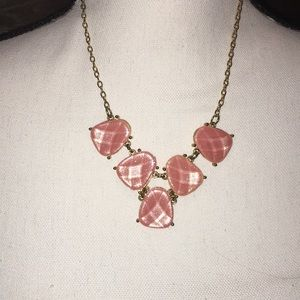 Pink and Gold Fashion Necklace
